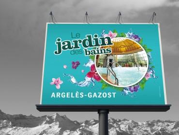 Affiche 4X3 - Publicité Le Jardin des Bains