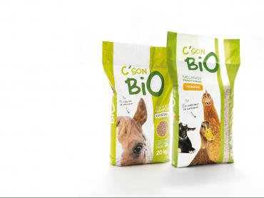 Création de la marque C'SON BIO et des packagings par l'agence de communication Nowooo à PAU