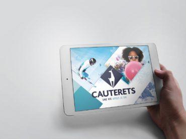 Dossier de presse format Web, créé par l'agence de communication Nowooo pour la station de Cauterets.