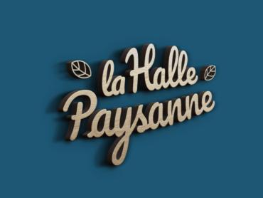 création du logo La Halle Paysanne par l'agence de communication Nowooo
