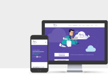 Création du site internet et d'une animation en Motion Design pour AMI COMPTA par l'agence de communication Nowooo (Pau et Tarbes)