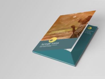 Synergie Solaire - création graphique et fabrication d'une chemise 6 pages avec rabat et fiches. Création : agence Nowooo (Pau-Tarbes)