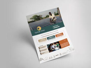 Synergie Solaire - création graphique et fabrication d'une chemise et de fiches pour présenter le fonds de dotation