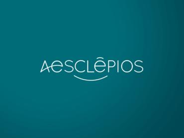 logo réalisé par l'agence de communication Nowooo pour Aesclepios, centre de bien être à Royat