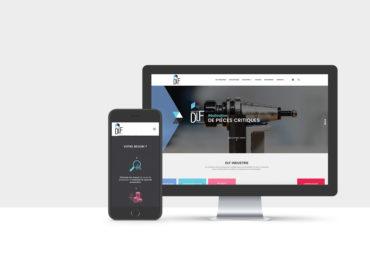 Création d'outils de communication pour la société DLF Industrie. Création d'un site web, d'une plaquette et de cartes de visite